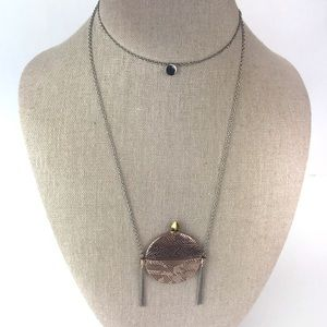 House of Harlow 1960 Jewelry - House of Harlow Mosiac Aztec Tassel Long Necklace